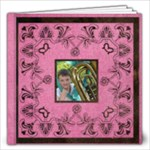 Art Nouveau Deep Pink 12 x 12 40 page book - 12x12 Photo Book (40 pages)