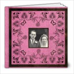 Art Nouveau Deep Pink 8 x 8 39 page book - 8x8 Photo Book (39 pages)