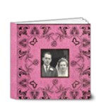 Art Nouveau Deep Pink 4 x 4 20 page book - 4x4 Deluxe Photo Book (20 pages)