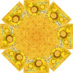 Sunflowers & Sunshine umbrella - Straight Umbrella