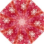 My winter valentine snowflake umbrella 2 - Folding Umbrella