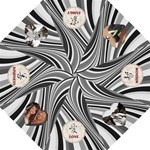 Black Swirl Inspiration Folding Umbrella
