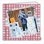 snow family fun template book 8x82 - 8x8 Photo Book (20 pages)