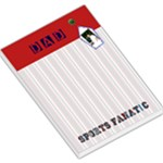 dad sports fanatic notepad - Large Memo Pads