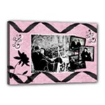 4 pic black pink canvas - Canvas 18  x 12  (Stretched)