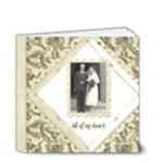 True Love Damask Wedding Album deluxe 4 x 4 - 4x4 Deluxe Photo Book (20 pages)