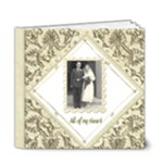 True Love Damask Wedding Album Deluxe 6 x 6 - 6x6 Deluxe Photo Book (20 pages)