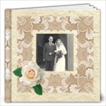 Wedded Bliss Mocca Damask 12 x 12 Celebration album - 12x12 Photo Book (20 pages)