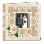 Wedded Bliss Mocca Damask 8 x 8 Celebration album - 8x8 Photo Book (20 pages)