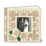 Wedded Bliss Mocca Damask 6 x 6 Deluxe Celebration album - 6x6 Deluxe Photo Book (20 pages)