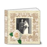 Wedded Bliss Mocca Damask 4 x 4 Celebration album - 4x4 Deluxe Photo Book (20 pages)