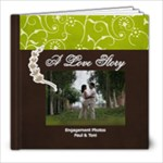 8x8- A Love Story- Simple Engagement/Wedding Photobook Template - 8x8 Photo Book (20 pages)