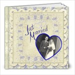 Just Married 8 x 8 Wedding Album - 8x8 Photo Book (20 pages)