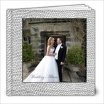Sumptuous Silver Leather Wedding Album 8 x 8 60 page  - 8x8 Photo Book (60 pages)