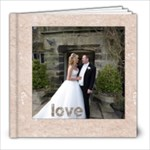 Classic Marble 8 x 8 30 page wedding album - 8x8 Photo Book (30 pages)