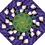Funky Fronds Purple & Green folding umbrella