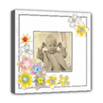 Cheeky Chappy Floral Frame 12 x 12 stretched canvas - Mini Canvas 8  x 8  (Stretched)
