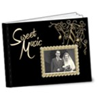 Sweet Music  Deluxe wedding brag book  new 7 x 5 - 7x5 Deluxe Photo Book (20 pages)