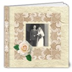 Wedded Bliss Mocca Damask Deluxe 8 x 8 Celebration album - 8x8 Deluxe Photo Book (20 pages)