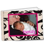 Fantasia classic pink framedDeluxe 20 page 9 x 7 album  - 9x7 Deluxe Photo Book (20 pages)