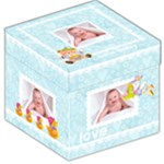 Baby Love New Baby Boy 12 inch storage stool - Storage Stool 12