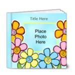 Hearts and Flowers General purpose Deluxe 6x6 20 page Book - 6x6 Deluxe Photo Book (20 pages)