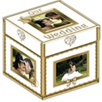 Our Wedding Keep sake storage Box - Storage Stool 12