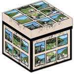 Tintagel Multiframe Picture Box Storage Stool 12 inch - Storage Stool 12