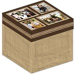 Tan Photo Collage Storage Stool - Storage Stool 12