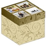 Cream Swirl Photo Collage Storage Cube - Storage Stool 12