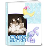 Cute as a Button BabyBoy Deluxe 10 x 8 20 Page Album - 8x10 Deluxe Photo Book (20 pages)