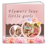 little girl and flower - 8x8 Deluxe Photo Book (20 pages)