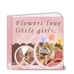 little girl and flower - 4x4 Deluxe Photo Book (20 pages)