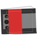 9x7 Houndstooth Deluxe Album- any theme - 9x7 Deluxe Photo Book (20 pages)
