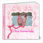 1 Year Anniversary M&M - 8x8 Photo Book (20 pages)