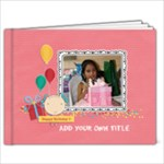 9x7 (20 pages): Happy Birthday - Girl - 9x7 Photo Book (20 pages)