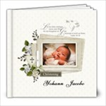 8x8 (30 pages) : Baptism/Christening/Dedication - 8x8 Photo Book (30 pages)
