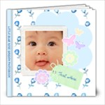Little Blue Rose Garden 8 x 8 Photobook - 8x8 Photo Book (20 pages)