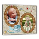 A Baby Boy 24x20 Stretched Canvas - Canvas 24  x 20  (Stretched)