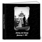 white and black wedding album - 8x8 Deluxe Photo Book (20 pages)