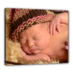 Kenz - pink/brown hat - Canvas 24  x 20  (Stretched)