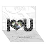 Elegant Black & White I Love You 3D Card - I Love You 3D Greeting Card (7x5)