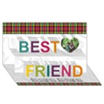 Bright Colors Best Friends 3D Card - Best Friends 3D Greeting Card (8x4)