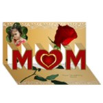 My Mothers day/birthday card 3D - MOM 3D Greeting Card (8x4)