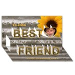 Long term friends birthday etc 3D card - Best Friends 3D Greeting Card (8x4)