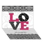 Black, White, and Pink LOVE 3D Card - LOVE 3D Greeting Card (7x5)