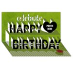 3D Celebrate May Happy Birthday Card 1 - Happy Birthday 3D Greeting Card (8x4)