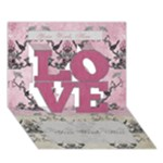 I Love You  pink Card - LOVE 3D Greeting Card (7x5)