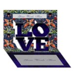 I Love You  Blue Card - LOVE 3D Greeting Card (7x5)