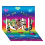 I Love You - 3d card - I Love You 3D Greeting Card (7x5)